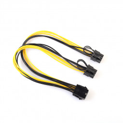 CPU 8Pin to Graphics Video Card Double PCI-E 8Pin (6Pin+2Pin) Power Supply Cable