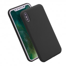 Soft TPU Frosted Case Slim Fit Rubber Silicone Full Protective Phone Case Cover for iPhone X/XS - Black