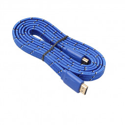 1.8M High Speed Flat Noodle HDMI to HDMI Cable Lead for HDTV Video TV - Blue