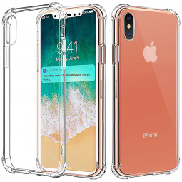 Soft TPU Shock Absorption Crystal Ultra Clear Bumper Case for Apple iPhone X/XS