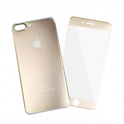 Full Coverage Front + Back Tempered Glass Film Protector for iPhone 7/8 Plus - Gold