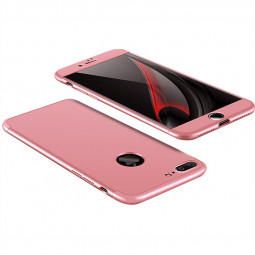 Ultra Thin Shockproof Hard Back Case 360 Degree Hybrid Phone Cover for iPhone 7/8 Plus - Rose Golden