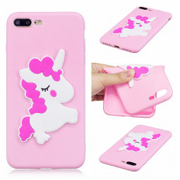 3D Cartoon Silicone Soft TPU Protective Back Case for Apple iPhone 7/8 Plus - Pony