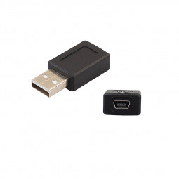 USB 2.0 A Male to Mini B 5 Pin Female Plug Adapter Converter Connecter for Tablet PC Cellphone