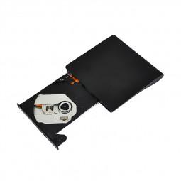 USB 3.0 External DVD RW CD RW Drive Burner Rewriter Recorder Copier - Black
