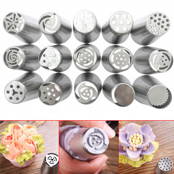1PCS Stainless Steel Flower Icing Piping Nozzles Cake Baking Tools - Random Pattern