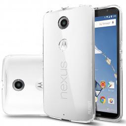 Motorola Moto Nexus6 Slim Fit Scratch Protective TPU Rubber Case Back Clear Phone Cover