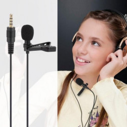 3.5mm Mini Wire Clip-on Lapel Lavalier Microphone Mobile Phone Laptop Sound Recording MIC Suit