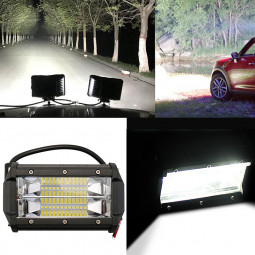 2x 5 Inch 72W LED Work Light Car Flood Bar Offroad Fog Lamp 4WD Jeep SUV