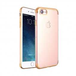 Clear Soft TPU Silicone Case Luxury Ultra Slim Shockproof Back Cover for iPhone 6S - Golden