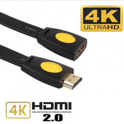 HDMI Extension Cable Male to Female 4K 2.0 Extended Connector for HD TV LCD Laptop - 0.5M