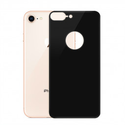 iPhone 7 8 Back Rear Screen Protector Ultra Slim Tempered Glass Hardness Protection Film - Black