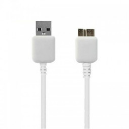 USB 3.0 Micro B Charging and Sync Data Cable for Samsung S5/Note3- White