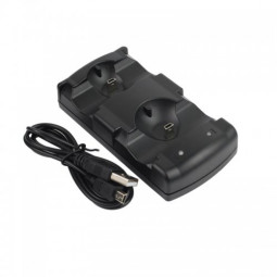 LED Dual Charging Dock Stand for PS3- Black