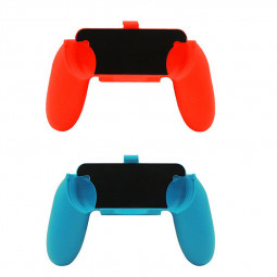 2PCS Nintendo Switch Joy Con Grip Wear Resistant Game Controller Handle Holder - Blue + Red