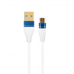 1M Luxury Micro USB Data Sync Charger Cable Lead for Android Phones - White