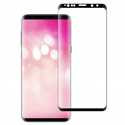 9H Shockproof 3D Full Coverage Tempered Glass Screen Protector for Samsung S9 Plus - Black