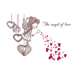 Family Love Angel Wall Sticker Decal Removable DIY Home Room Decor Art Decoration