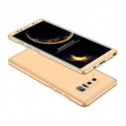 Ultra Slim Full Coverage PC Hard Protective Case Back Cover for Samsung Note 8 - Gold