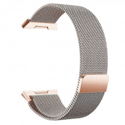Milanese Stainless Steel Mesh Replacement Watchband Wrist Strap for Fitbit Ionic Size S - Rose Gold