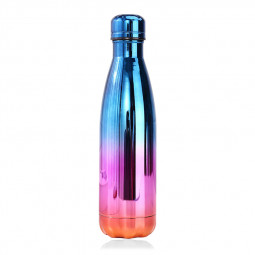 500ML Plating Gradient Water Flask Stainless Steel Double Wall Vacuum Insulated Bottle - Plating Red