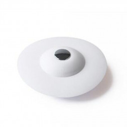 Soft Multi Functional Drain Stopper Hair Catcher for Bathroom Kitchen Laundry Floor - White