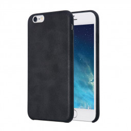 Slim PU Leather Case Back Phone Case for iPhone 6/6s - Black