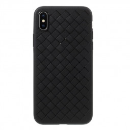 Apple Weave Braided Case Slim Shockproof TPU Phone Cover for iPhone X/XS - Black
