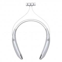 V8 Wireless Neckband Bluetooth Headset Stereo Sports Earphone Headphone - Silver