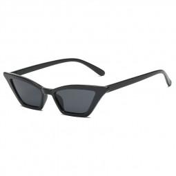 Women's Retro Cat Eye Sunglasses Outdoor Sunglasses Eyewear - Black + Grey