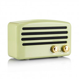 Retro Mini Radio Bluetooth Speaker Wireless FM Radio TF Card Audio Speaker - Green