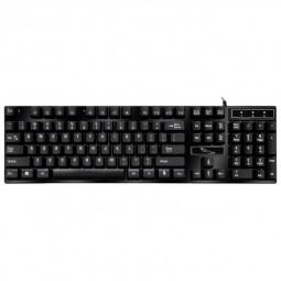 Desktop USB Wired Keyboard Gaming Keypad for Computer Laptop Office - Black