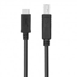 USB-C USB 3.1 Type C Male to USB 2.0 B Type Male Data Cable Adapter Connector - 1M