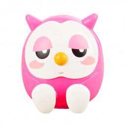 Universal Cute Owl Phone Stand Holder Bracket Saving Money Pot Coin Box - Pink