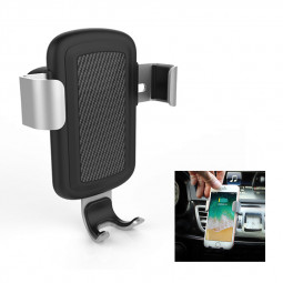 Qi Wireless Car Charger Mount Air Vent Fast Charge Charging Gravity Phone Holder Stand - Silver