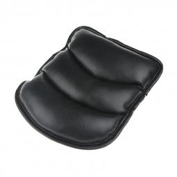 Luxury Soft PU Leather Car Auto Armrest Pillow Pad Mat - Black