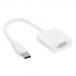 USB 3.0 Male to VGA Female Adapter Video Graphic Card Display Converter Cable