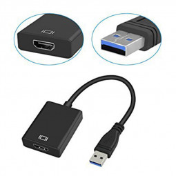 USB 3.0 Male to HDMI Female Adapter Video Graphic Card Display External Cable Converter