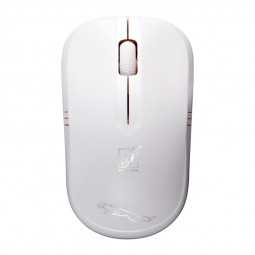2.4G 1600DPI Wireless Optical Mouse Universal Cordless Office Gaming Mouses for Laptop PC - White