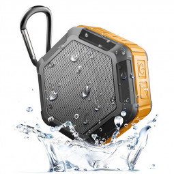 Waterproof Outdoor Wireless Bluetooth Speaker Stereo Sports Music Player Box - Orange