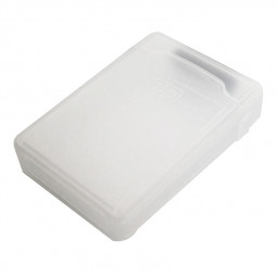 3.5 Inches IDE/SATA HDD Hard Drive Disk Protection Box Storage Case - White