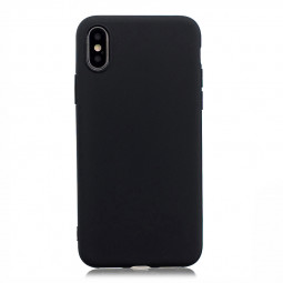 Ultra Slim Soft TPU Gel Case Flexible Rubber Silicone Shockproof Back Cover for iPhone X/XS - Black