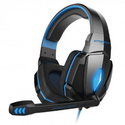 EACH G4000 Pro LED Gaming Headset Stereo 3.5mm Wired Headphone - Black+Blue