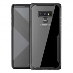 Slim Clear Hard PC Soft TPU Bumper Case Back Cover for Samsung Note 9 - Black