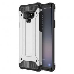 Slim TPU+PC Rugged Armor Case Cool Stylish Rubber Hard Shockproof Back Cover for Samsung Note 9 - Silver