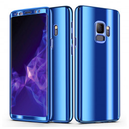 360 Degree Full-Body Shockproof Anti-Scratch Case Cover with Built-in Screen Protector for Samsung S9 - Blue