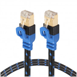 CAT7 Flat UTP Ethernet Network Cable RJ45 Patch LAN Wire Internet Cord - 0.5M