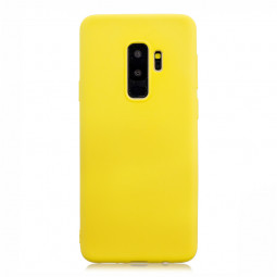 Candy Color TPU Case Slim Soft Gel Rubber Shockproof Back Cover for Samsung S9 Plus - Yellow