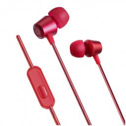 KDK-207 Universal 3.5mm In-Ear Earphone Stylish Metal Stereo Heavy Bass Headphones Headset - Red