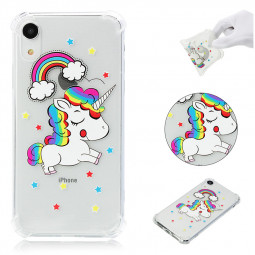 iPhone XR Printing Pattern Soft TPU Silicone Shockproof Case Back Cover - Unicorn